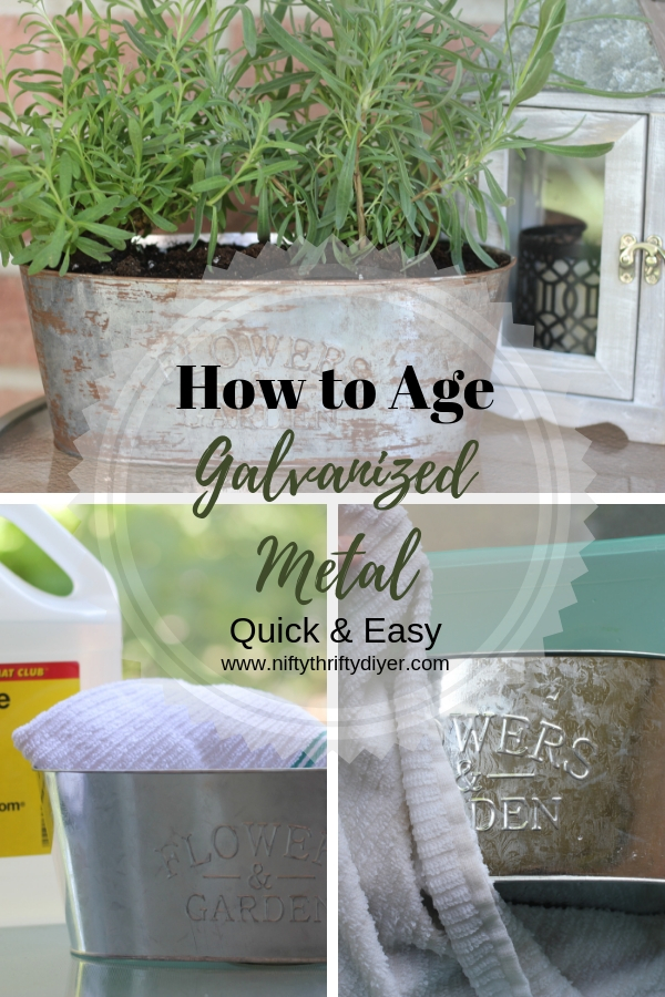 How to age galvanized metal4