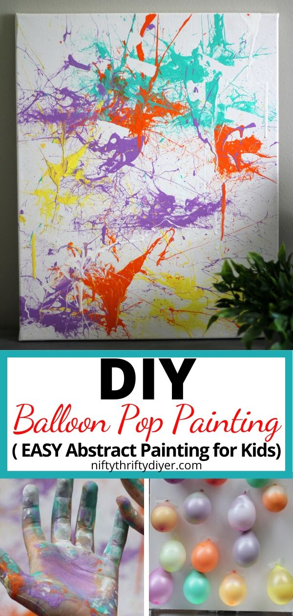 Balloon Pop Painting Super Fun And Easy Summer Kids Craft