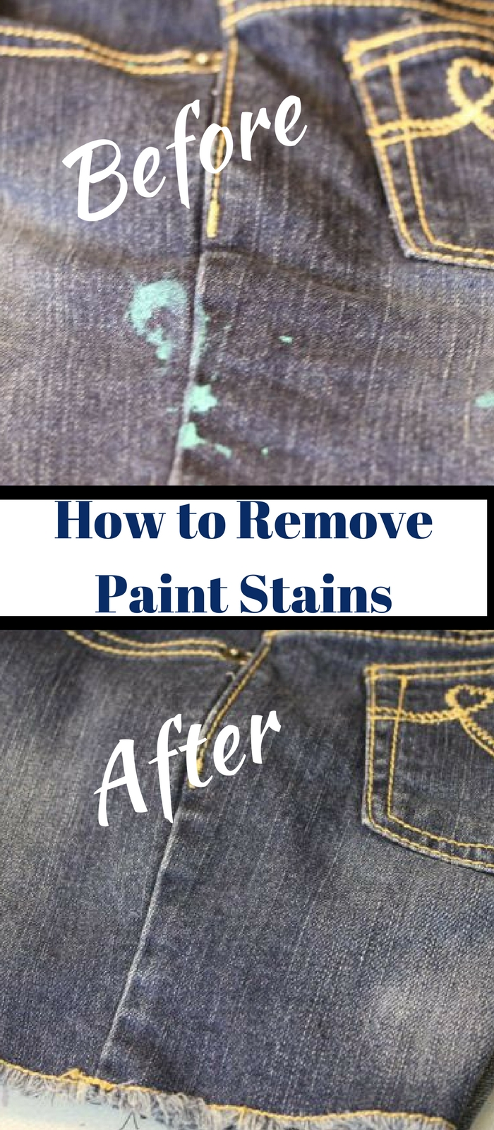How to Remove Dried Paint from Clothing~Fast and easy way to remove paint from clothing