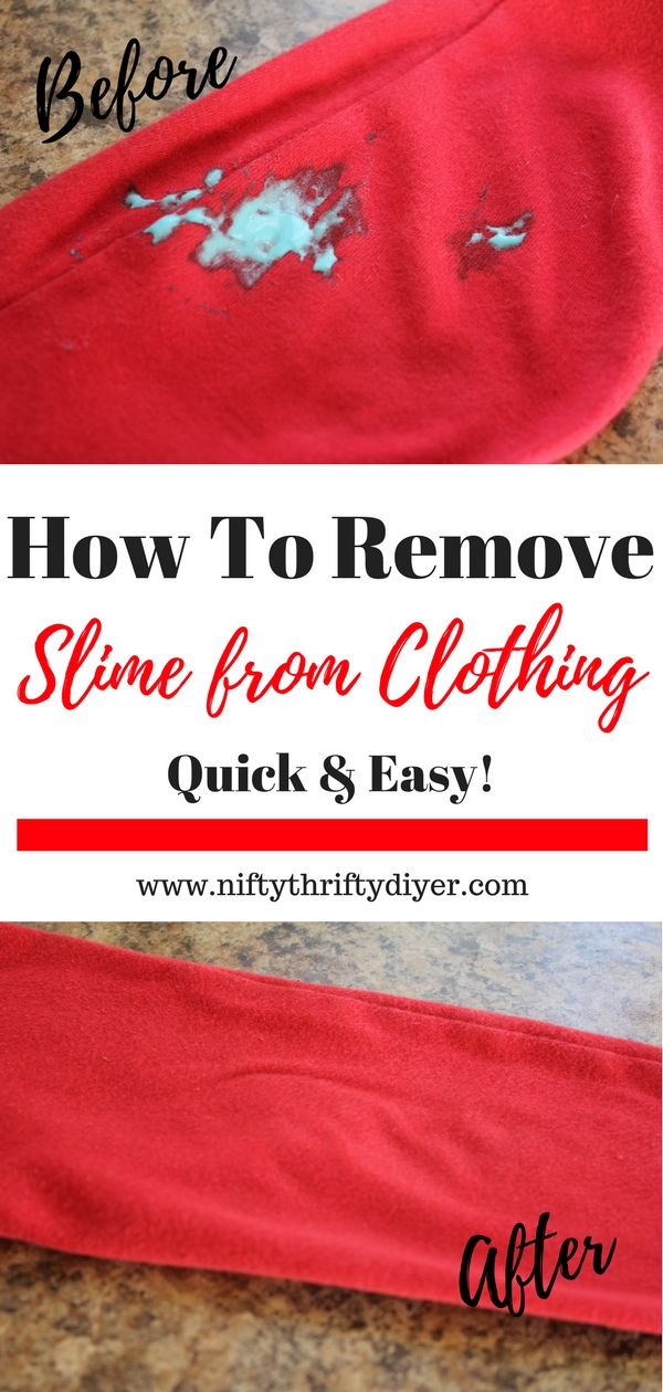 How To Remove Slime from Clothing