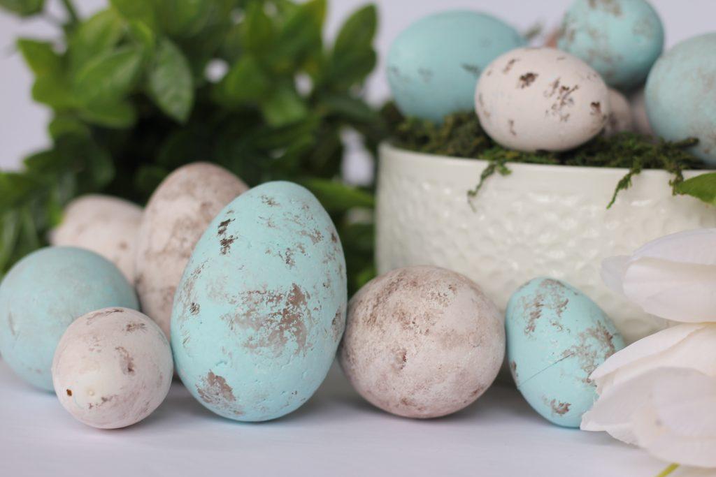 diy speckled eggs