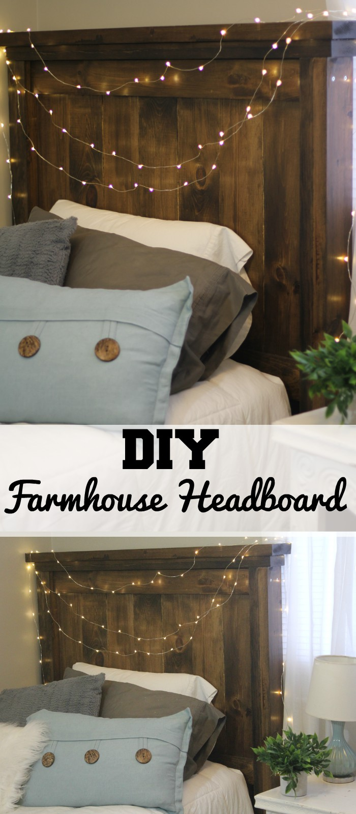 Farmhouse Style Headboard~Have you ever dreamed of making your own Farmhouse Style Headboard? It's not as difficult as you think.