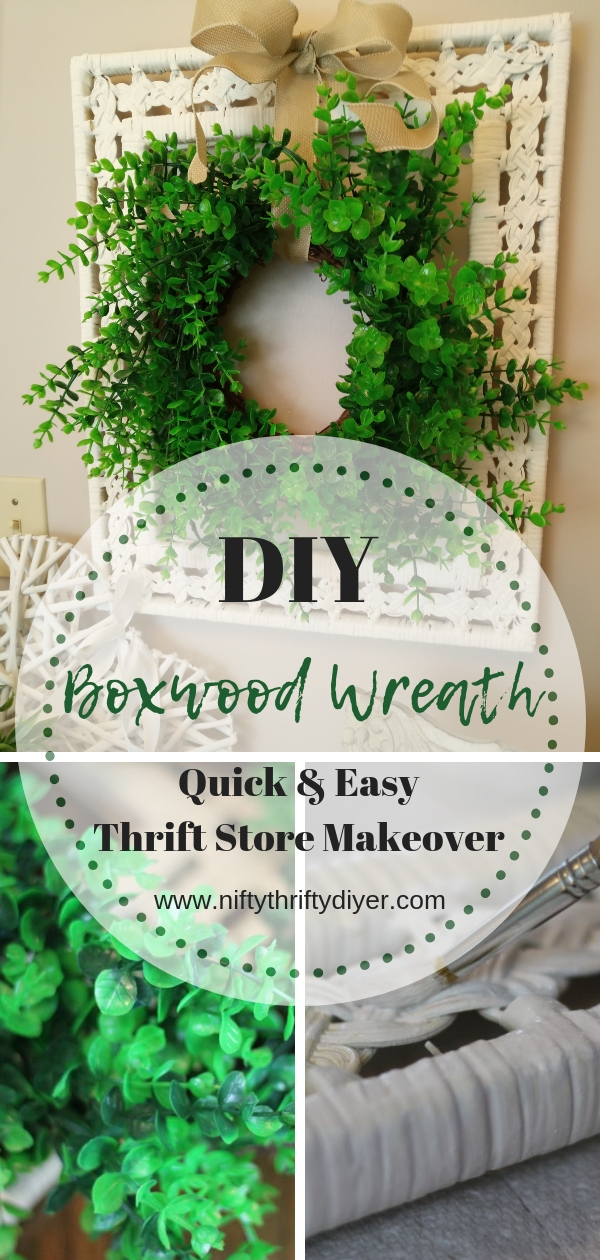 Boxwood Wreath in a frame