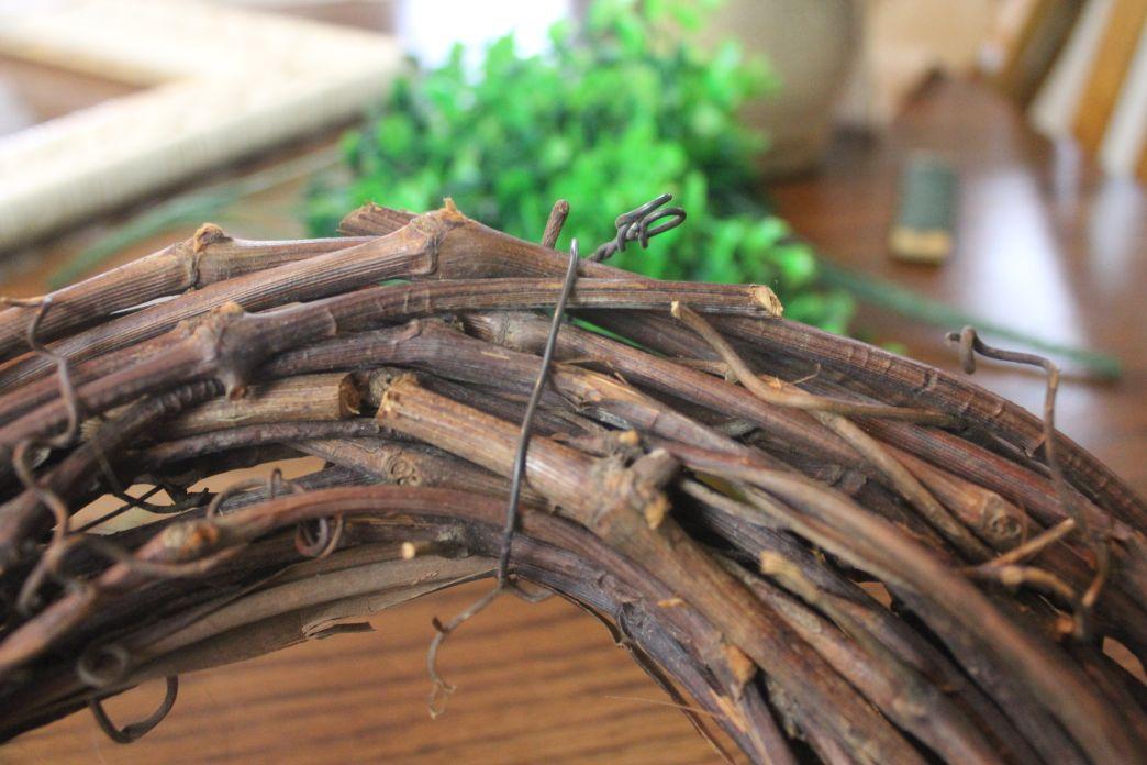 DIY Boxwood Wreath in Frame