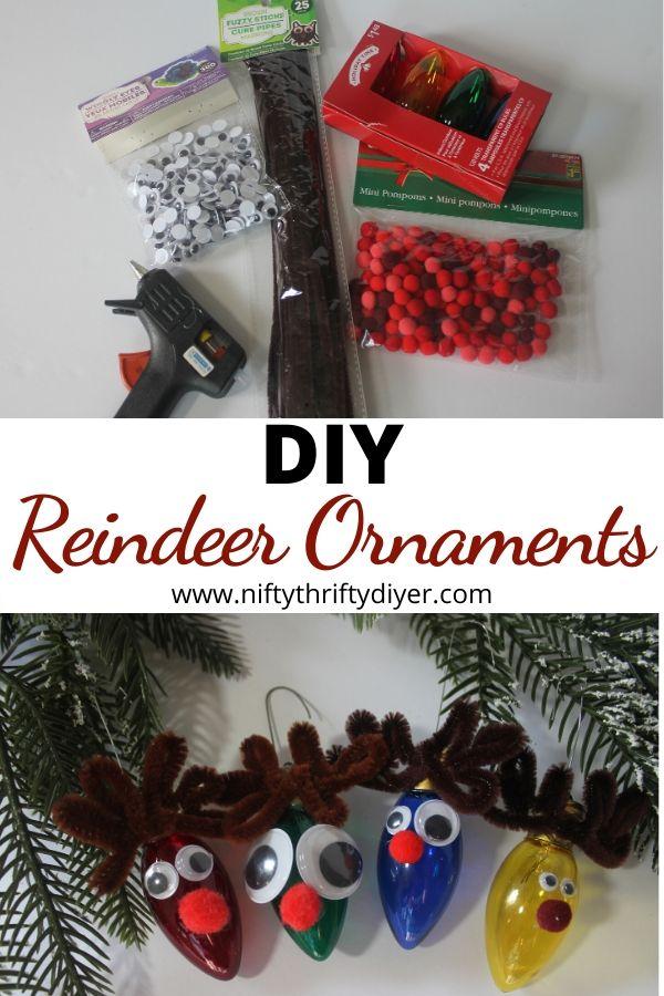 diy reindeer ornaments