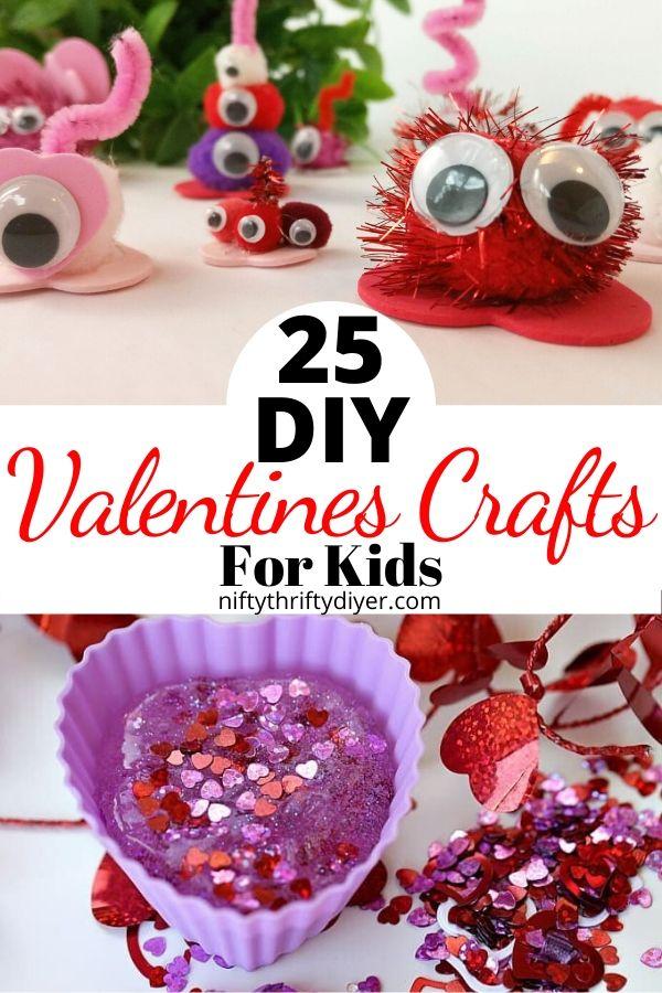 25 DIY Valentines Crafts for Kids