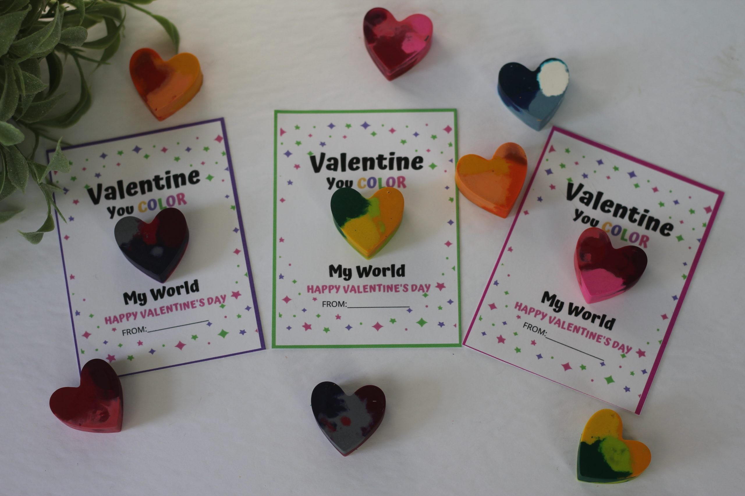 Melted Crayon Valentines