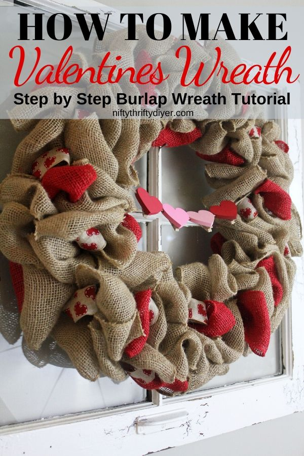 DIY Valentines Wreath